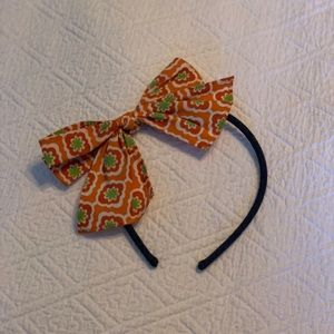 Girl's Eleanor Rose Fall Headband with Bow in EUC